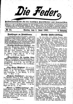 ˜Dieœ Feder on Jun 1, 1903