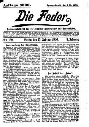 ˜Dieœ Feder vom 15.02.1906