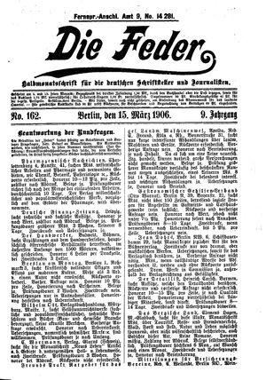 ˜Dieœ Feder vom 15.03.1906