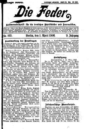 ˜Dieœ Feder vom 01.04.1906