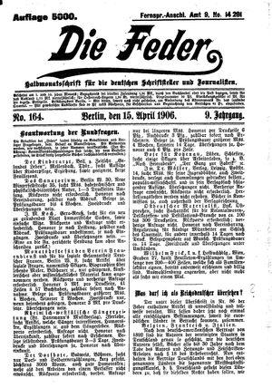 ˜Dieœ Feder vom 15.04.1906