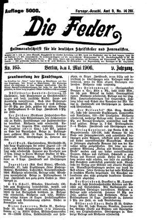˜Dieœ Feder vom 01.05.1906