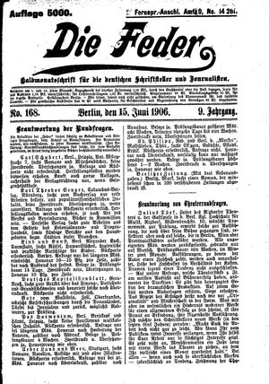 ˜Dieœ Feder vom 15.06.1906