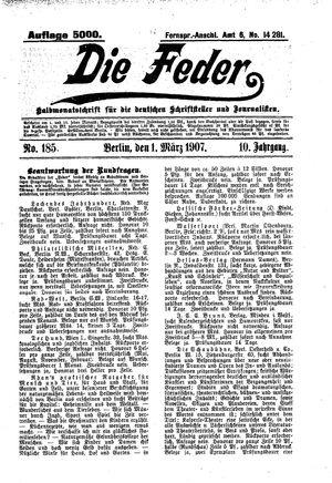 ˜Dieœ Feder vom 01.03.1907