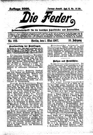 ˜Dieœ Feder vom 01.05.1907