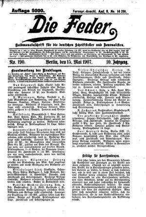 ˜Dieœ Feder vom 15.05.1907