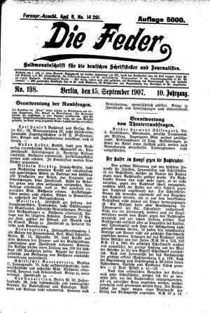 ˜Dieœ Feder vom 15.09.1907
