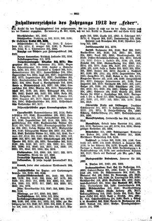 ˜Dieœ Feder vom 01.01.1913