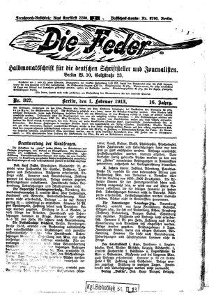 ˜Dieœ Feder vom 01.02.1913