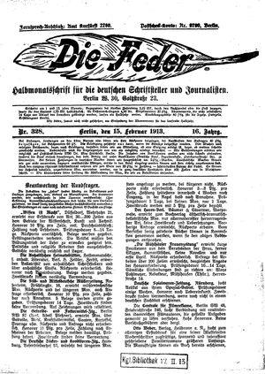 ˜Dieœ Feder vom 15.02.1913