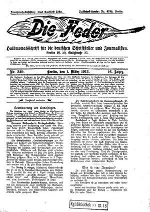 ˜Dieœ Feder vom 01.03.1913