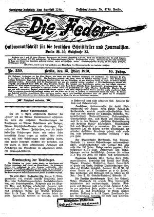 ˜Dieœ Feder vom 15.03.1913