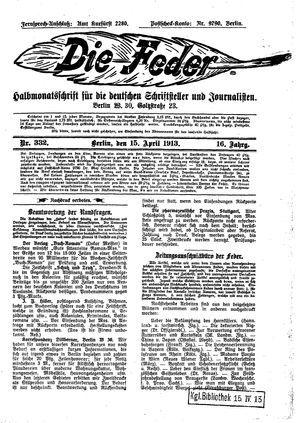 ˜Dieœ Feder vom 15.04.1913
