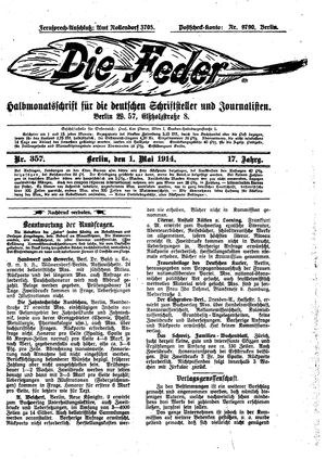 ˜Dieœ Feder vom 01.05.1914