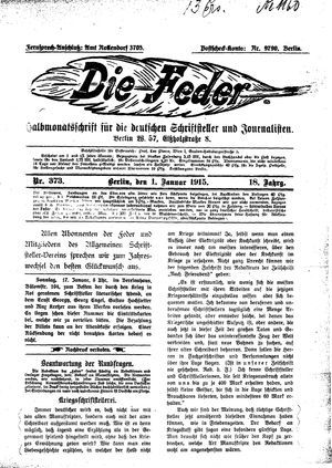 ˜Dieœ Feder vom 01.01.1915