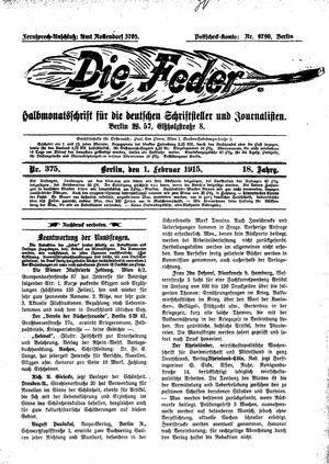 ˜Dieœ Feder vom 01.02.1915