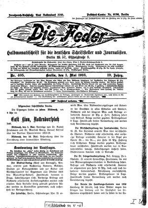 ˜Dieœ Feder vom 01.05.1916