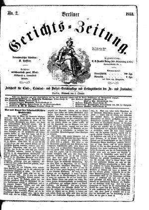 Berliner Gerichts-Zeitung vom 05.10.1853
