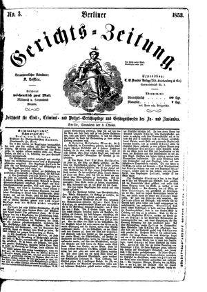 Berliner Gerichts-Zeitung vom 08.10.1853