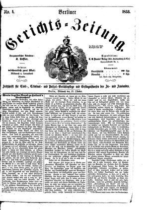 Berliner Gerichts-Zeitung vom 12.10.1853