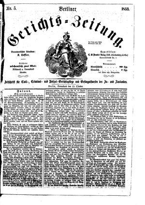 Berliner Gerichts-Zeitung vom 15.10.1853