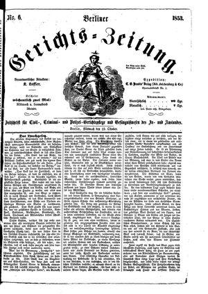 Berliner Gerichts-Zeitung vom 19.10.1853