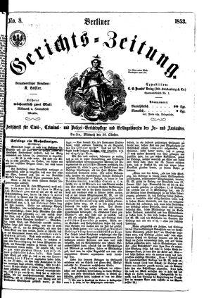 Berliner Gerichts-Zeitung vom 26.10.1853