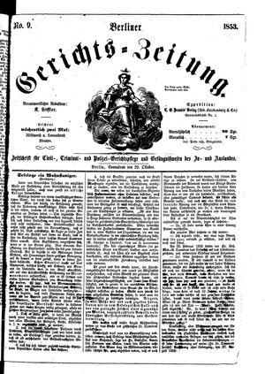 Berliner Gerichts-Zeitung vom 29.10.1853
