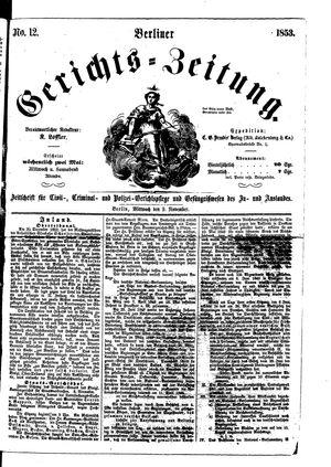 Berliner Gerichts-Zeitung on Nov 9, 1853