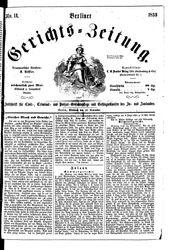 Berliner Gerichts-Zeitung (16.11.1853)