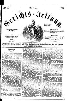 Berliner Gerichts-Zeitung vom 19.11.1853