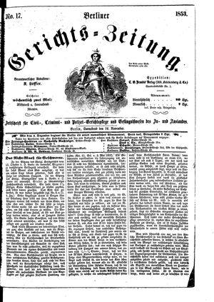 Berliner Gerichts-Zeitung vom 26.11.1853
