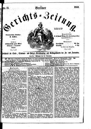 Berliner Gerichts-Zeitung vom 30.11.1853