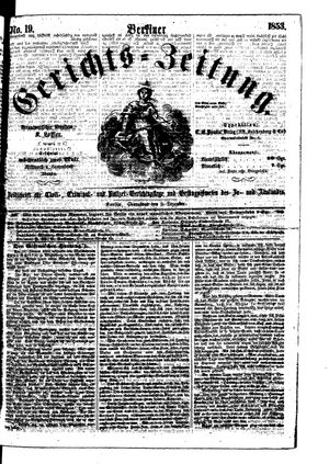 Berliner Gerichts-Zeitung vom 03.12.1853