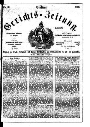 Berliner Gerichts-Zeitung vom 07.12.1853