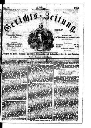 Berliner Gerichts-Zeitung vom 10.12.1853