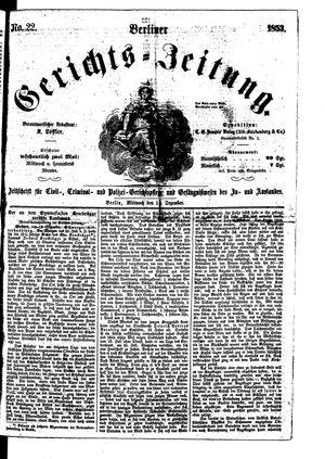 Berliner Gerichts-Zeitung vom 14.12.1853