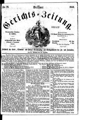 Berliner Gerichts-Zeitung vom 28.12.1853