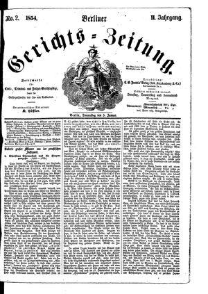 Berliner Gerichts-Zeitung vom 05.01.1854