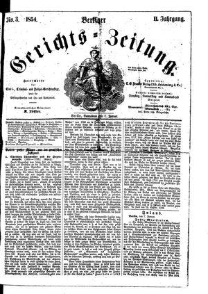 Berliner Gerichts-Zeitung vom 07.01.1854