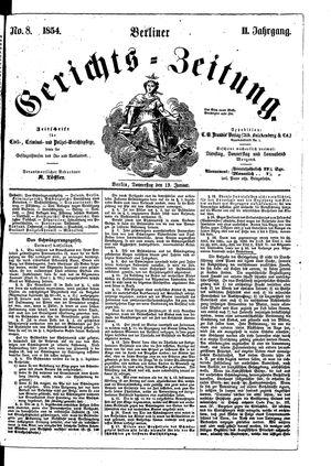 Berliner Gerichts-Zeitung vom 19.01.1854