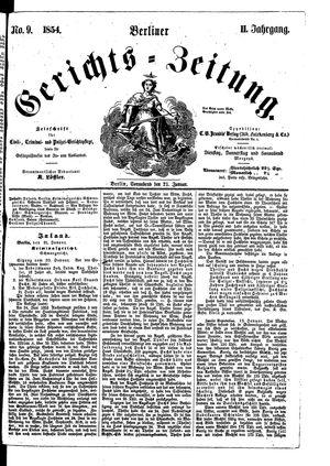 Berliner Gerichts-Zeitung vom 21.01.1854