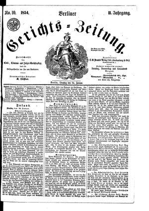 Berliner Gerichts-Zeitung vom 24.01.1854