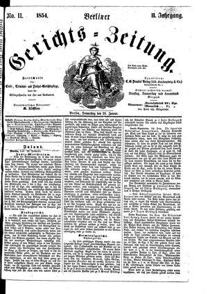 Berliner Gerichts-Zeitung vom 26.01.1854