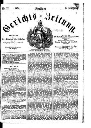 Berliner Gerichts-Zeitung vom 28.01.1854