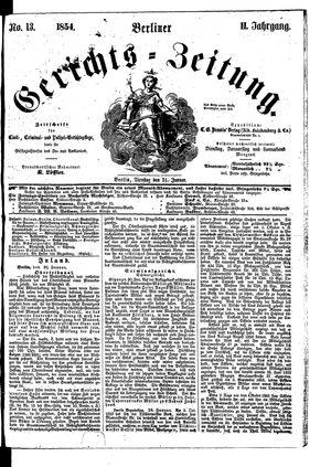 Berliner Gerichts-Zeitung vom 31.01.1854
