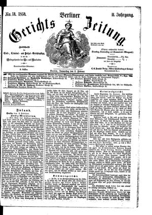 Berliner Gerichts-Zeitung on Feb 2, 1854