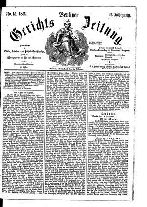 Berliner Gerichts-Zeitung vom 04.02.1854