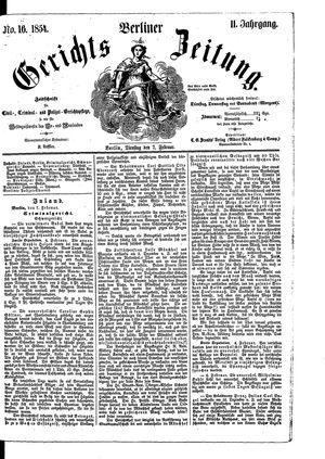 Berliner Gerichts-Zeitung vom 07.02.1854