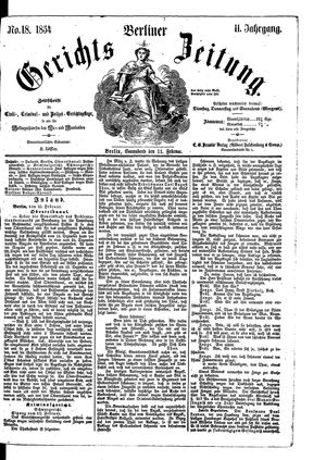 Berliner Gerichts-Zeitung vom 11.02.1854